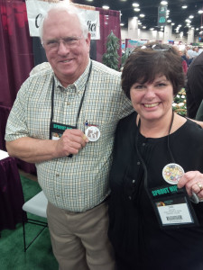 EXPO 14: Duane Preston and Deb Hart showing PAA pins